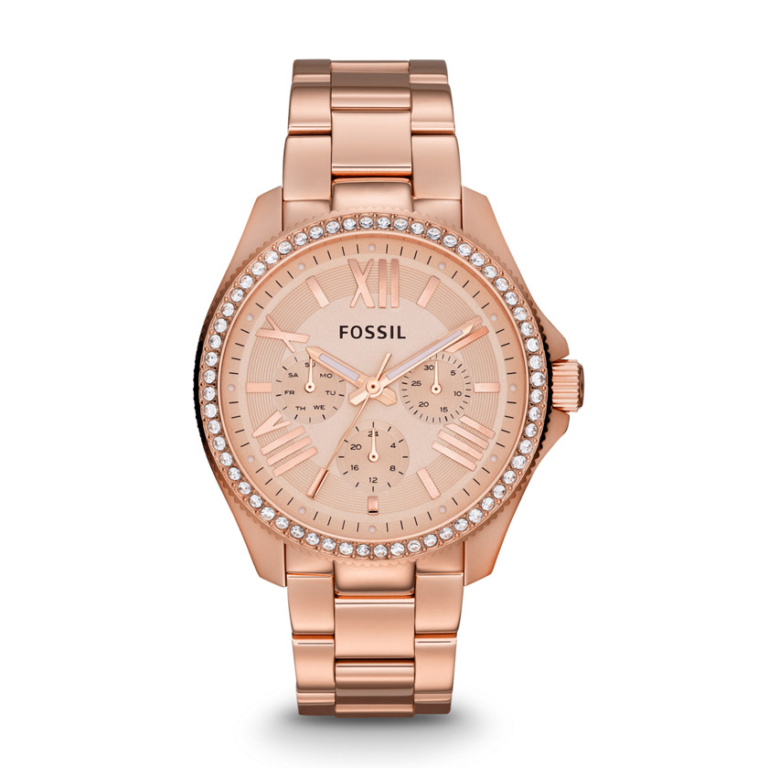 Fossil  Cecile Multifunction Stainless Steel Watch - Rose  22436395