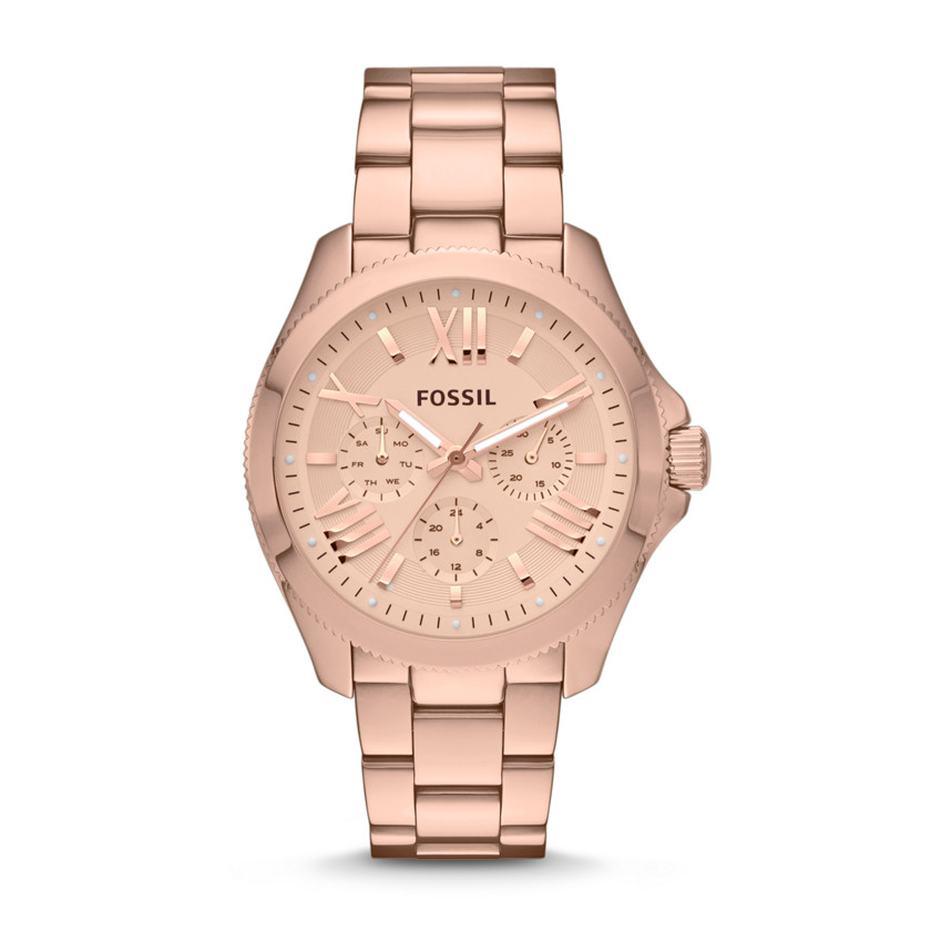 Fossil  Cecile Multifunction Stainless Steel Watch - Rose  22456539