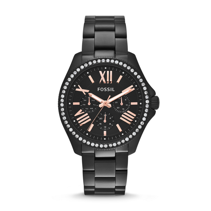 Fossil  Cecile Multifunction Stainless Steel Watch - Black  22456551
