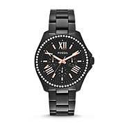AM4522 - Cecile Multifunction Stainless Steel Watch - Black