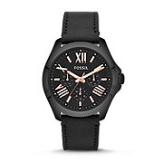 AM4523 - Cecile Multifunction Leather Watch - Black