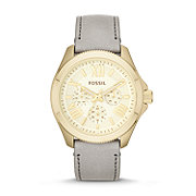 AM4529 - Cecile Multifunction Leather Watch - Gray