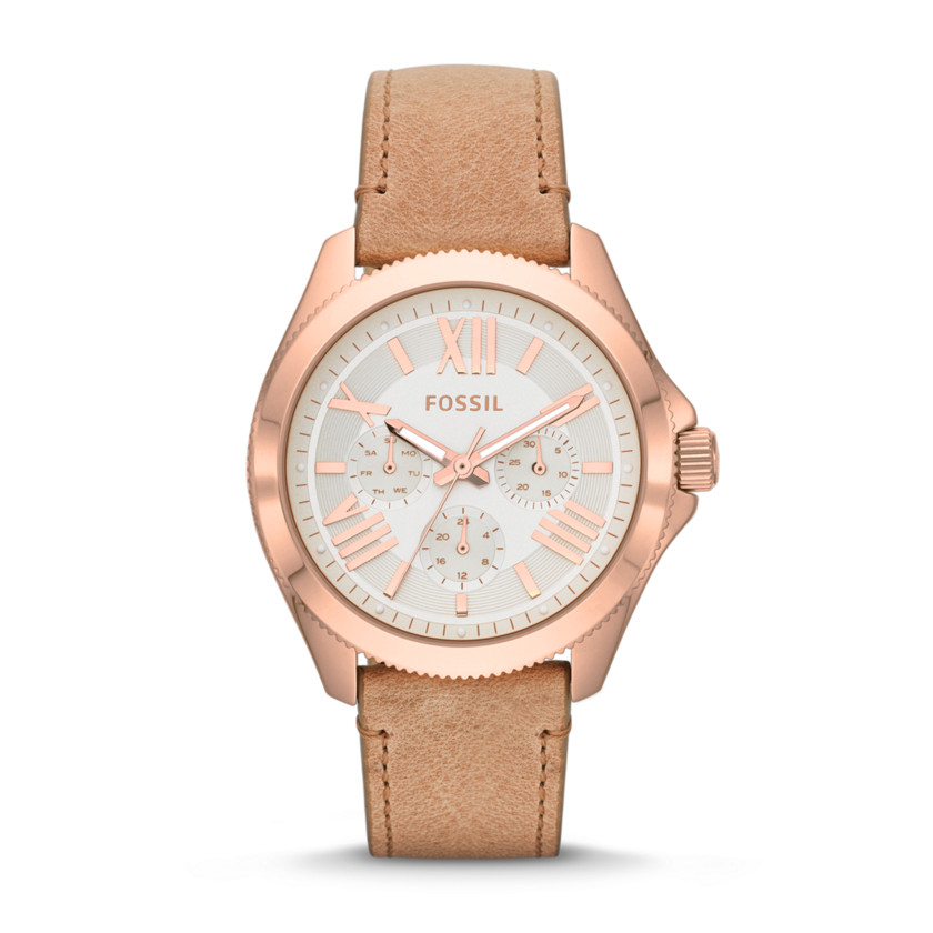 Fossil  Cecile Multifunction Leather Watch - Sand  22530066