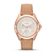 AM4532 - Cecile Multifunction Leather Watch - Sand