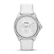 AM4535 - Cecile Multifunction Leather Watch - White