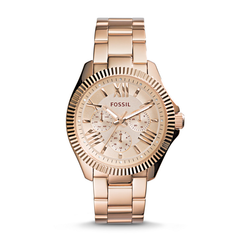 Fossil  Cecile Multifunction Stainless Steel Watch - Rose  22559934