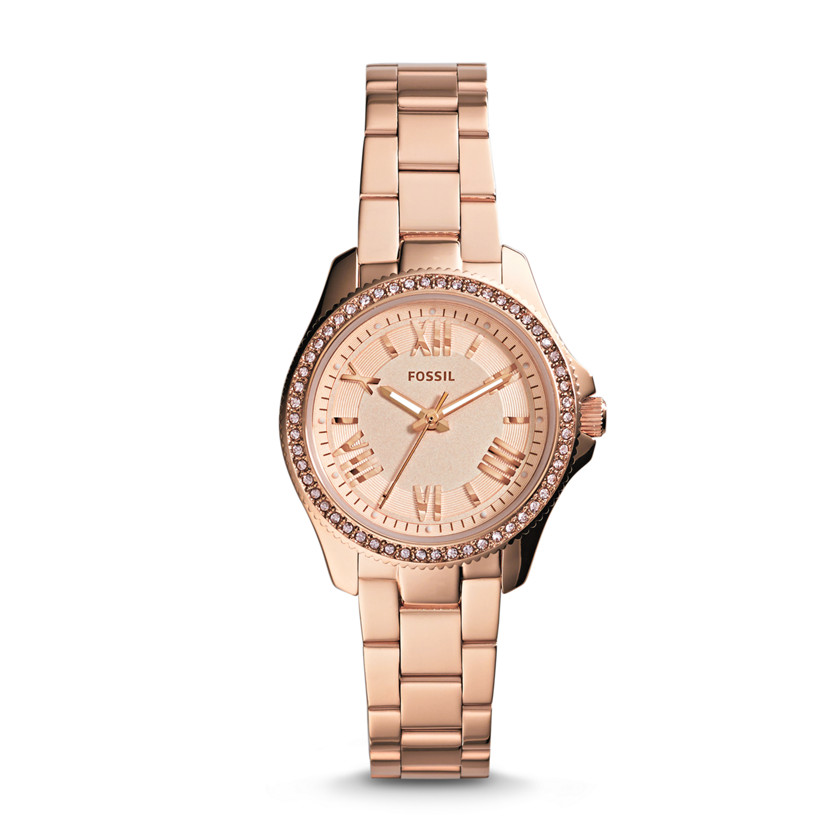 Fossil  Cecile Small Three-Hand Stainless Steel Watch - Rose  22559942