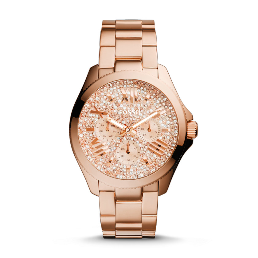 Fossil  Cecile Multifunction Stainless Steel Watch - Rose  22575798