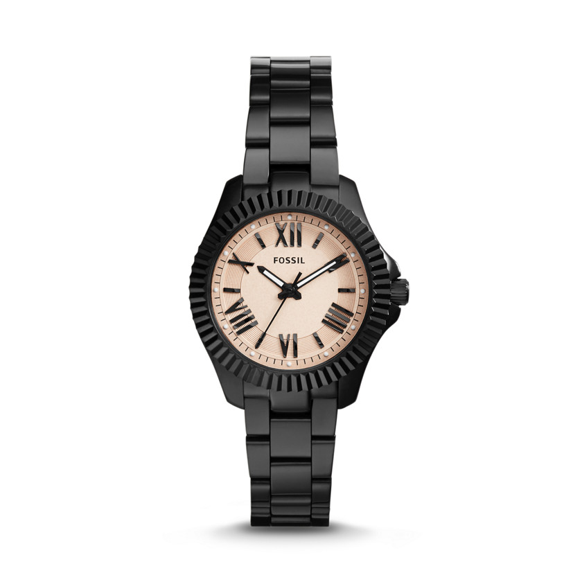 Fossil  Cecile Small Three-Hand Stainless Steel Watch - Black