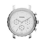 C181007 - Natalie Chronograph Stainless Steel 18mm Watch Case – White