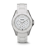 CE1002 - Riley Multifunction Ceramic Watch - White