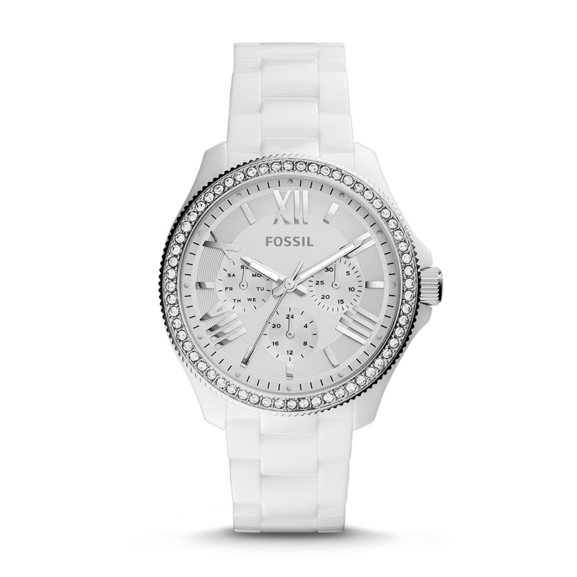 Fossil  Cecile Multifunction Ceramic Watch - White  22559966