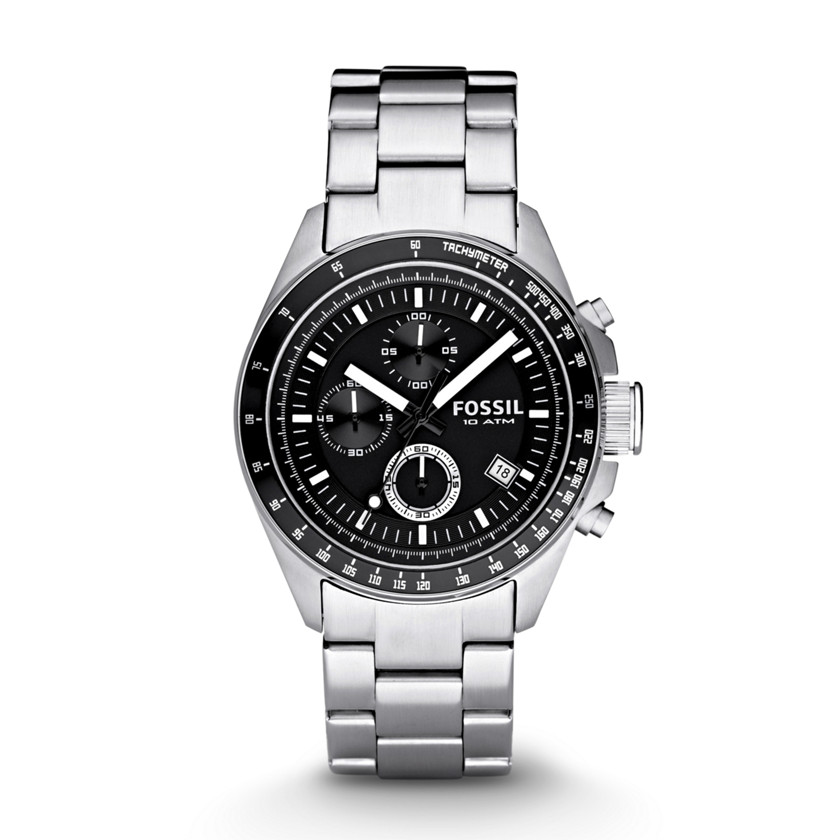 Fossil  Decker Chronograph Stainless Steel Watch  22152046