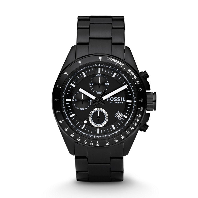 Fossil  Decker Chronograph Stainless Steel Watch - Black  22152048