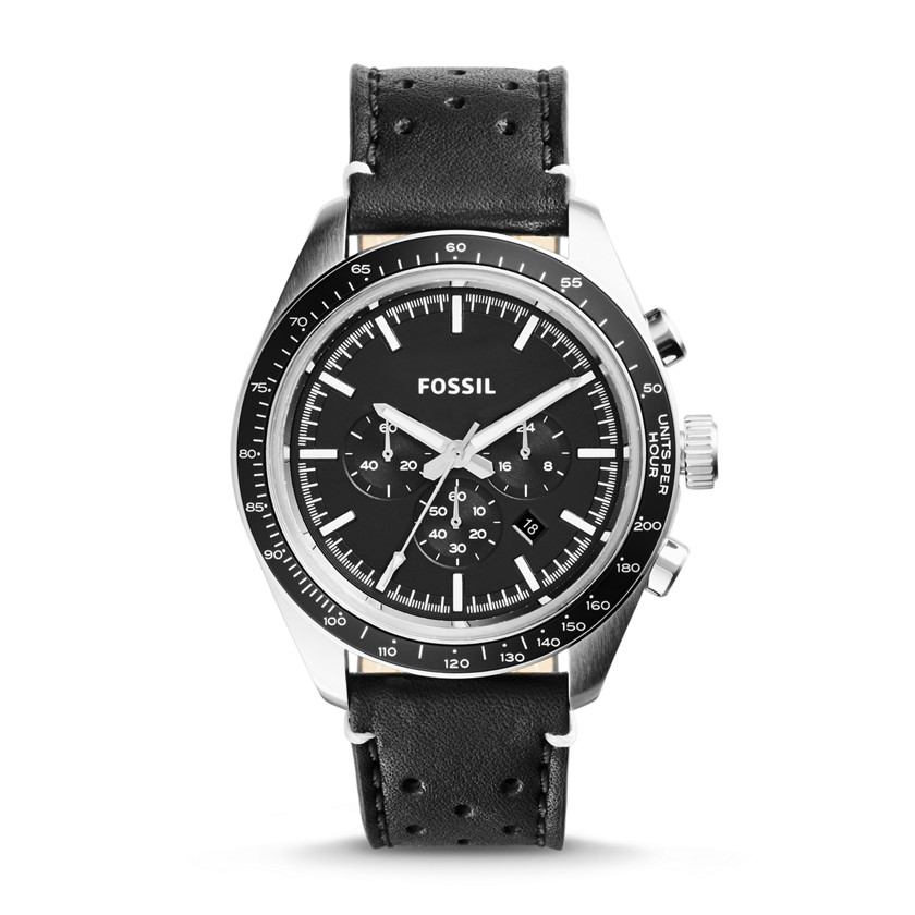 Fossil  Edition Sport Chronograph Leather Watch - Black  22559970