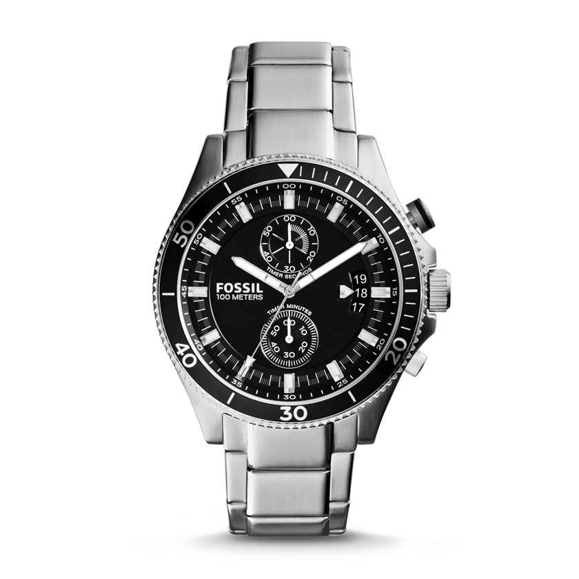 Fossil  Wakefield Chronograph Stainless Steel Watch  22559986