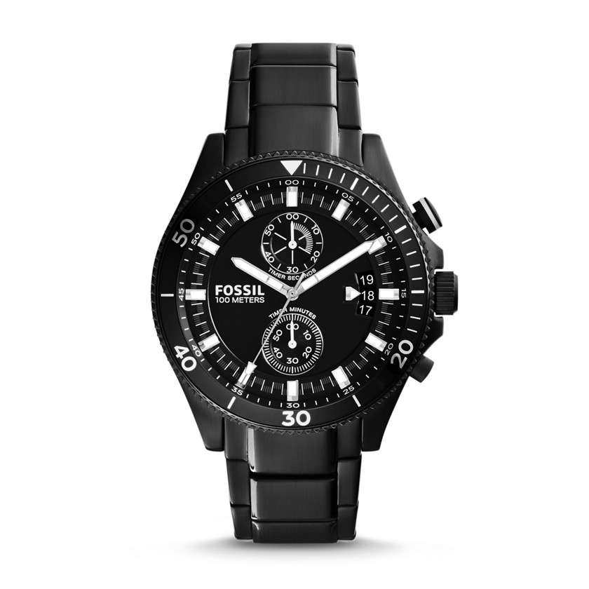 Fossil  Wakefield Chronograph Stainless Steel Watch - Black  22559988