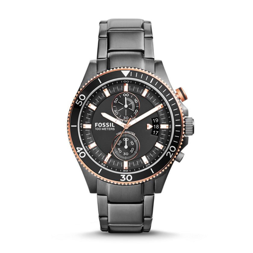 Fossil  Wakefield Chronograph Stainless Steel Watch - Smoke  22575832