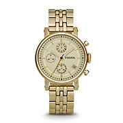 ES2197 - Dress Chronograph Stainless Steel Watch - Gold-Tone