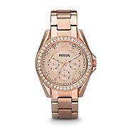 ES2811 - Riley Multifunction Stainless Steel Watch - Rose