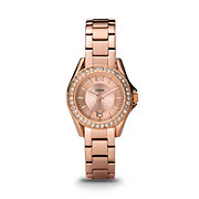 ES2889 - Riley Mini Three Hand Stainless Steel Watch - Rose