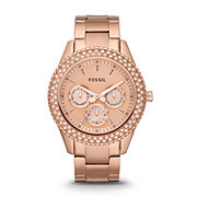 ES3003 - Stella Multifunction Stainless Steel Watch - Rose