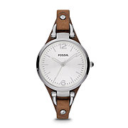 ES3060 - Georgia Three Hand Leather Watch - Tan