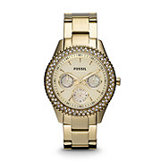 ES3101 - Stella Multifunction Stainless Steel Watch - Gold-Tone