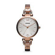 ES3110 - Georgia Three Hand Stainless Steel Watch - Rose