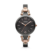 ES3111 - Georgia Three Hand Stainless Steel Watch - Smoke and Rose