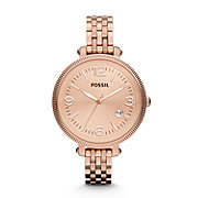 ES3130 - Heather Three Hand Stainless Steel Watch - Rose