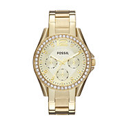 ES3203 - Riley Multifunction Stainless Steel Watch - Gold-Tone