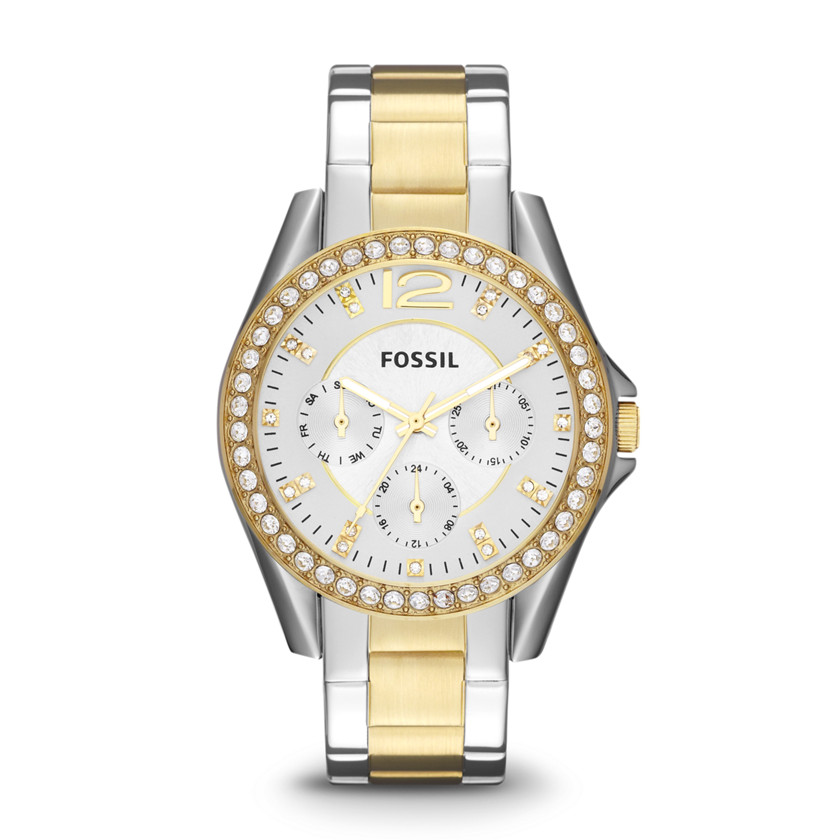 Fossil  Riley Multifunction Stainless Steel Watch - Two-Tone  22436457