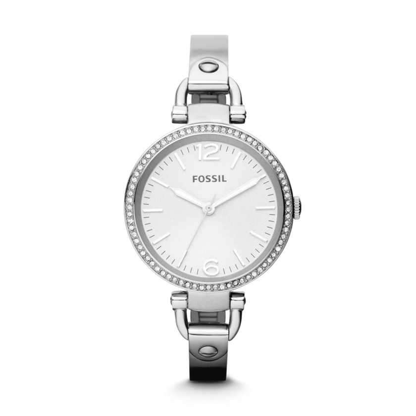 Fossil  Georgia Glitz Three Hand Stainless Steel Watch  22396482