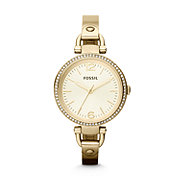 ES3227 - Georgia Glitz Three Hand Stainless Steel Watch Gold-Tone