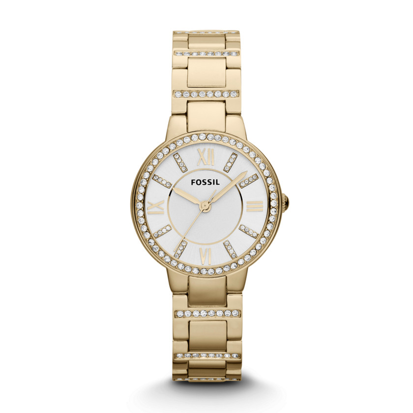 Fossil  Virginia Three Hand Stainless Steel Watch - Gold-Tone