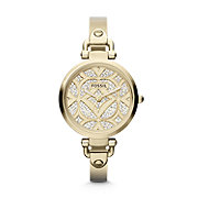 ES3293 - Georgia Three Hand Stainless Steel Watch - Gold-Tone