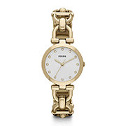 ES3349 - Olive Three Hand Stainless Steel Watch - Gold-Tone