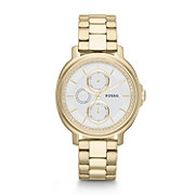 ES3354 - Chelsey Multifunction Stainless Steel Watch - Gold-Tone