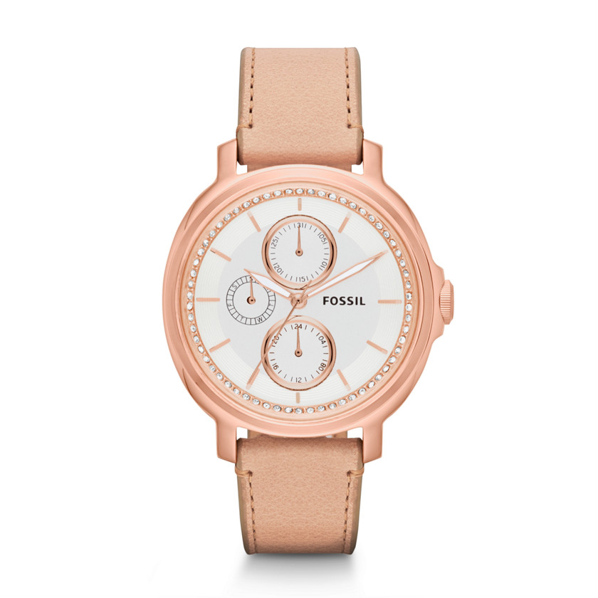 Fossil  Chelsey Multifunction Leather Watch - Sand  22444446
