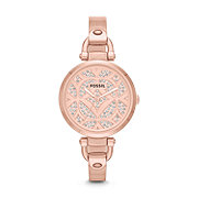 ES3422 - Georgia Three-Hand Bangle Watch - Rose