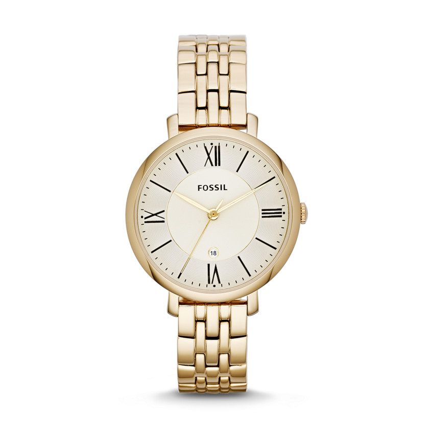 Fossil  Jacqueline Three-Hand Stainless Steel Watch - Gold-Tone