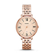 ES3435 - Jacqueline Three-Hand Stainless Steel Watch - Rose