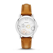 ES3456 - High Tide Three-Hand Leather Watch - Tan