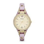 ES3469 - Georgia Three-Hand Leather Watch – Light Purple