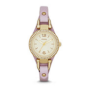 ES3473 - Georgia Mini Three-Hand Leather Watch – Light Purple