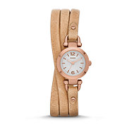 ES3477 - Georgia Three-Hand Leather Watch - Sand