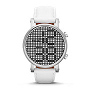 ES3483 - Special Edition Electro Tick Digital Leather Watch - White