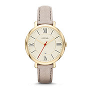 ES3486 - Jacqueline Three-Hand Leather Watch - Gray
