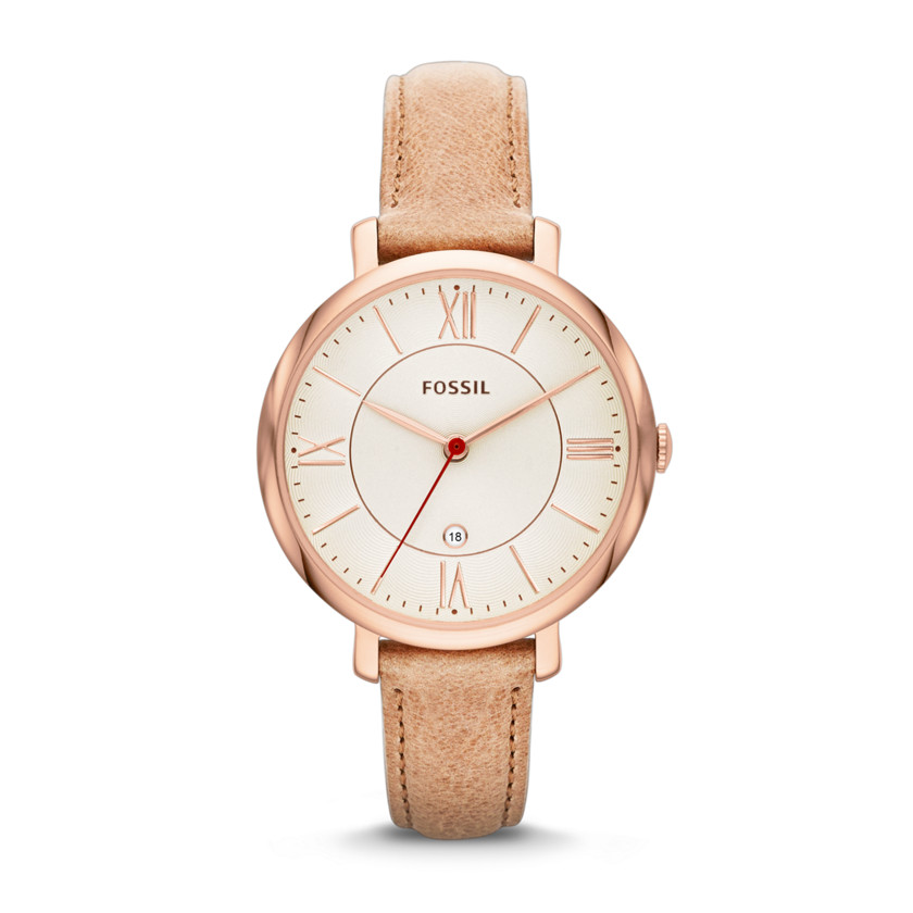 Fossil  Jacqueline Three-Hand Leather Watch - Camel  22529968